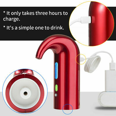 Smart Automatic USB Rechargeable Wine Aerator Decanter Pourer Dispenser Electric