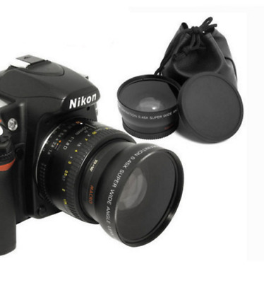 52MM-LENS 0.45x Photo HD Wide Angle  and Macro Lenses
