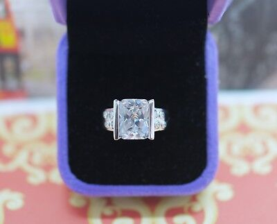 Antique Deco Jewellery Ring White Sapphires Vintage Dress Jewelry  Size R or 9