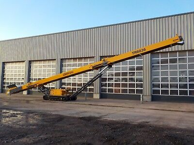 Tracked Stockpile conveyor  900mm (36inch) wide belt  (80ft) long TR8036