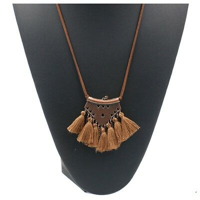 Sweater chain Necklaces Leather chain Long tassel Pendant Ethnic necklaces Y7W5