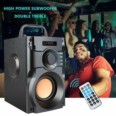 Portable 10W Wireless Bluetooth Speaker Subwoofer Heavy Bass MP3 Player FM Radio