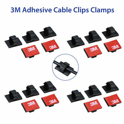 20pcs Lot For Car Dash Camera 3M Self-Adhesive Wire Tie Cable Clamp Clip Holder