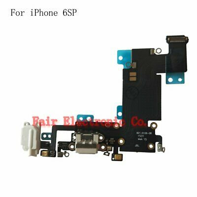 """For iPhone 6S Plus 5.5"""" Replacement Charger Flex Cable USB Dock Mic White"""