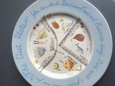 THE DIET CERAMIC Plate Female Portion Control Slimming Aid Royal  Staffordshire