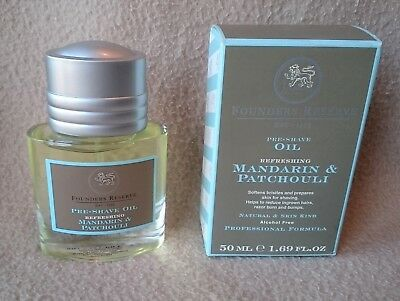 """St James Of London Founders Reserve """"mandarin & Patchouli"""" Pre Shave Oil 50 Ml"""