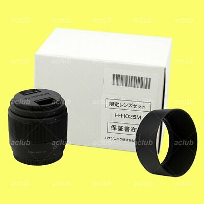 Panasonic LUMIX G 25mm f/1.7 ASPH Lens (Black) for Micro Four Thirds M4/3 Mount