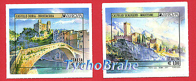 Serie EUROPA CASTELLI ITALIA 2017 CEPT POSTEUROP EUROPE ITALY Stamps MNH CASTLES