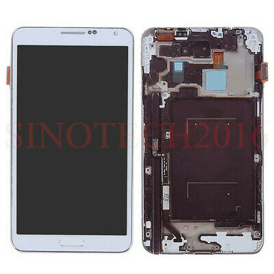 Full LCD Display Screen Für Samsung Galaxy Note 3 N9005 Touchscreen Rahmen Weiß
