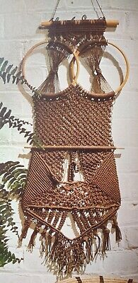 Vintage Sewing Pattern Owl Macrame wallhanging  Reproduced