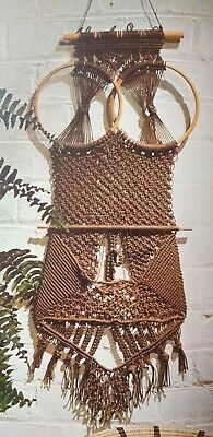 Vintage weaving braiding  Pattern Owl Macrame  wallhanging  Reproduced