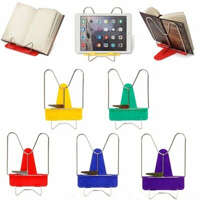 Metal Foldable Angle Bookends Desk Organizer Reading Book Stand Document Holder