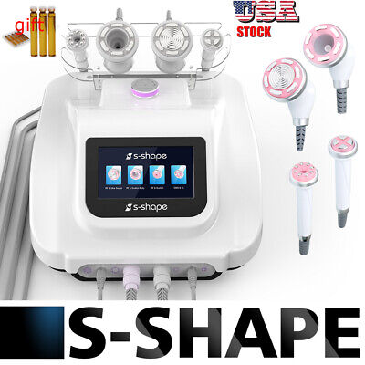 S Shape Cavitation RF Suction Therapy Weight Loss Electroporation Vacuum Facial