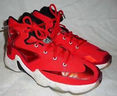 3f1e9f46a96f9 Nike Lebron Xiii 13 University Red White Basketball Shoes 808709-610 -Size  4Y