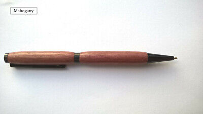Hand Made Ballpoint Twist Pen In Exotic Mahogany Wood