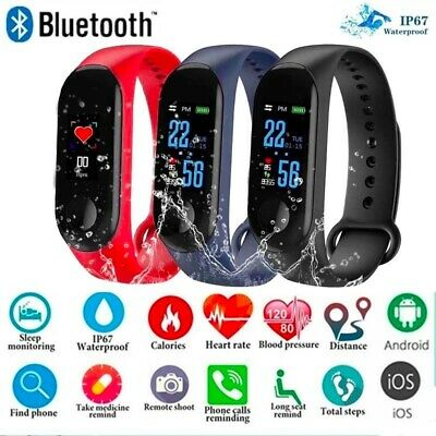 Smart Band Dr Fitness Tracker Heart Rate Monitor Step Counter Alarm Fit- Bit UK