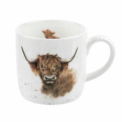 Royal Worcester Wrendale Designs Highland Coo Mug 0.31L