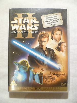 Star Wars Ii Attack Of The Clones * Digitally Remastered 2 Disc Dvd * 2002