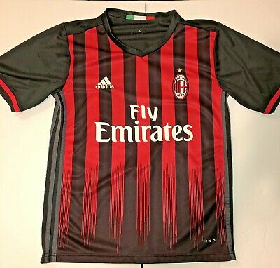 9c20285085f ACM AC MILAN Adidas Climacool Soccer Red Jersey Adult Size Small ...