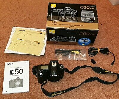 Nikon D D50 6.1MP Digital SLR Camera - Black (Body only)
