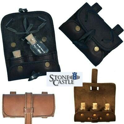 9c9f63d6e75 Leather Potion Bottle Holder Belt Wallet for Stage, Costume, Re-enactment &  LARP