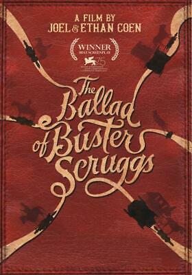 THE BALLAD OF BUSTER SCRUGGS DVD (region 1 us import) USED, IN GOOD CONDITION.