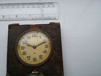 1920s 8 day Swiss-made  travel clock steel case