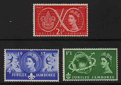 SG557-559 1957 WORLD SCOUT JUBILEE Unmounted Mint