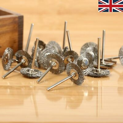 25mm Wire Wheel Cup Rust Brush for Die Grinder Power Rotary Tool 15PCS