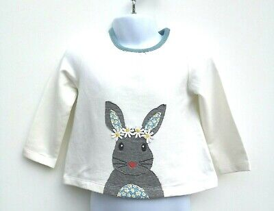 Boden Girls Top Ex Baby Boden Soft Jersey Applique Tops Age 3 Month - 3 Years
