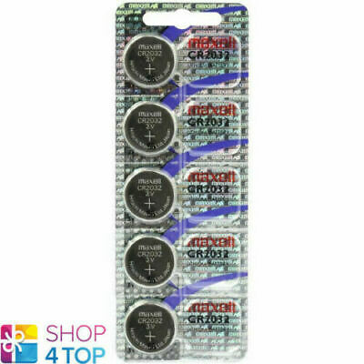 5 Maxell Cr2032 Lithium Batteries 3V Coin Cell Dl2032 Exp 2023 New