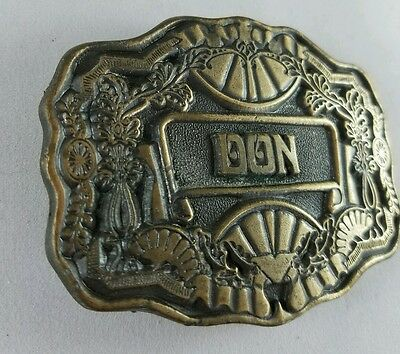 "Solid Brass Belt Buckle ""DON"" Oden Inc"