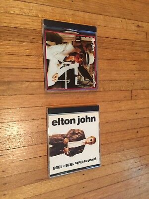(2) CD lot Elton John Greatest Hits and Greatest Hits 1976-1986