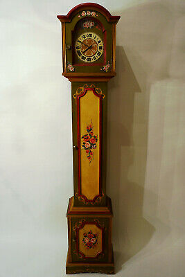 Alte Antike Kirschbaum Standuhr made in Germany Handbemalt handpainted 175cm