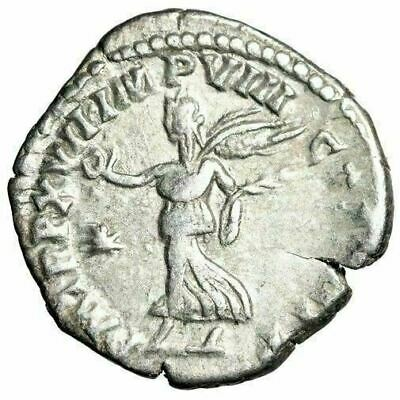 "Commodus AR Denarius ""Winged Victory, Star"" Rome 191-192 AD RIC 237 VF"