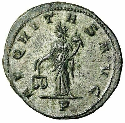 """Tacitus Silvered Antoninianus """"Aequitas With Scales"""" Lyons RIC 181 FDC"""