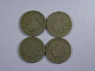 Lot of Liberty Head Nickels 1911-1912 (4 coins) Copper-Nickel