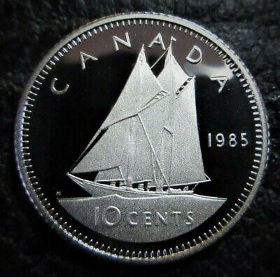 1985 10 Cent Canada Proof - Heavy Cameo - From Mint Set