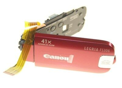 Canon Legria Fs306 Red Camcorder Right Lcd Cover Unit New Genuine