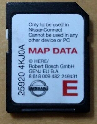 NISSAN connect 3 sat nav sd card  for  juke qashqai note..