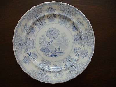Antique Blue Staffordshire Plate - Circa 1830