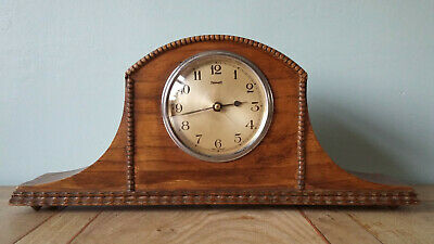 Vintage FERRANTI Synchronous Electric Wooden Cased Mantel Clock. Working order.