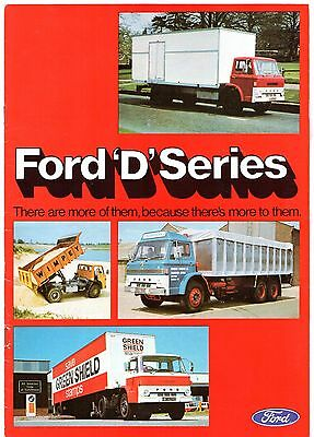 Ford D-Series 1977-78 UK Market Sales Brochure Truck Artic Tandem Tipper