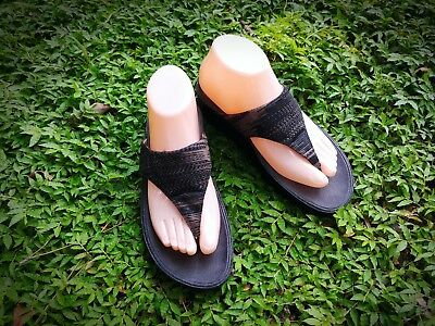 20f23b3a9 FITFLOP WOMENS SANDALS Black Delta Slides Leather Ladies Casual ...