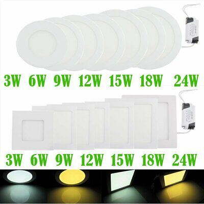 Ultra Thin LED Recessed Panel Ceiling Light Flat Spot DownLights Home Dining UK