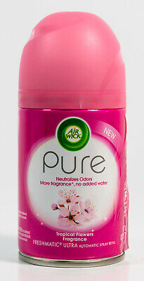 Air Wick Pure Automatic Spray Refill Tropical Flowers Fragrance 6.17 oz No Pump