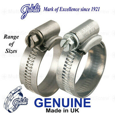 Genuine Jubilee Hose Clips Clamp Worm Drive - Mild Steel Bzp - All Sizes Bs5315