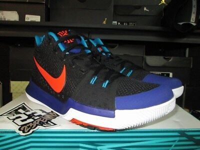 acc9b78a8a72 Sale Nike Kyrie Iii 3 Black Team Orange Concord Sz 9.5 11 Kyrache 852395 007