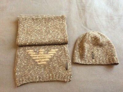 Armani Junior scarf and beanie size 2