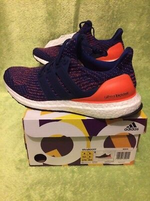 d444b09681e ADIDAS ULTRA BOOST 3.0 Mystic Ink Blue Orange Mystery DS S82020 UK ...